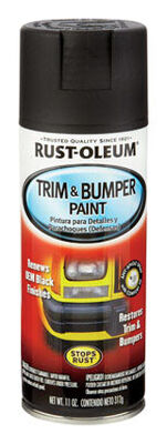 Rust-Oleum Stops Rust Black Matte Automotive Trim & Bumper Paint Spray 11 oz.