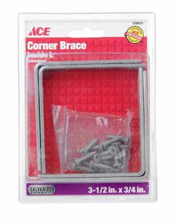 Ace Inside L Corner Brace 3-1/2 in. x 3/4 in. Galvanized Steel