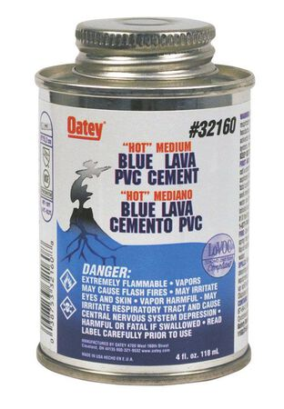 Oatey Lava Hot Blue PVC Cement 4 oz.