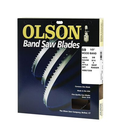Olson 59.5 in. L x 0.4 in. W Carbon Steel Band Saw Blade 4 TPI