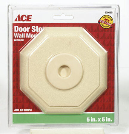 Ace Rubber Wall Door Stop 5 in. H x 5 in. W Almond
