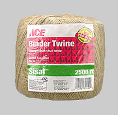 Ace 2500 ft. L Twisted Sisal Twine Brown