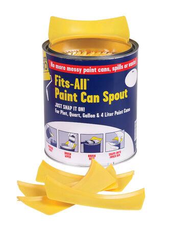 FoamPRO Yellow Plastic Snap-On Lid