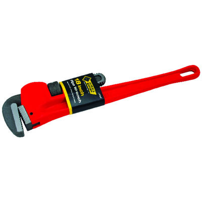 Steel Grip 18 in. Steel Pipe Wrench Red