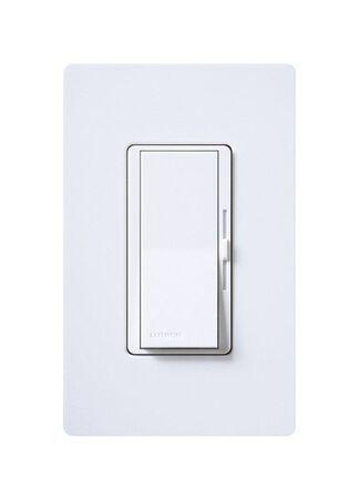 Lutron Diva 5 amps 600 watts Slide Dimmer Switch White