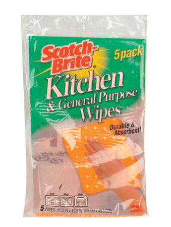Scotch-Brite Kitchen Cleaning Cloth 11-1/2 in. W x 19-1/2 in. L 5 pk