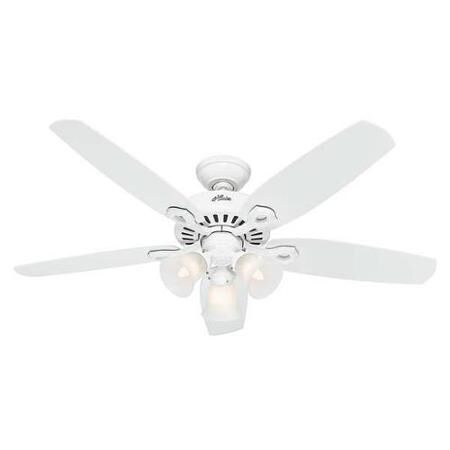 Hunter Fan Builder Plus Ceiling Fan 52 in. W Snow White