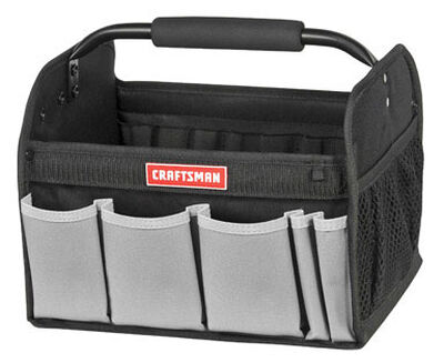 Craftsman Tool Tote 10 in. H x 10-3/4 in. W x 12-1/2 in. L 7 inside pockets 5 outside pockets