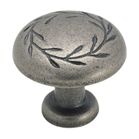 Amerock Inspirations Round Furniture Knob 1-1/4 in. Dia. 1-13/16 in. Weathered Nickel 1 pk