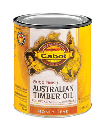 Cabot Wood Finish Transparent Oil-Modified Australian Timber Oil Honey Teak 1 qt.