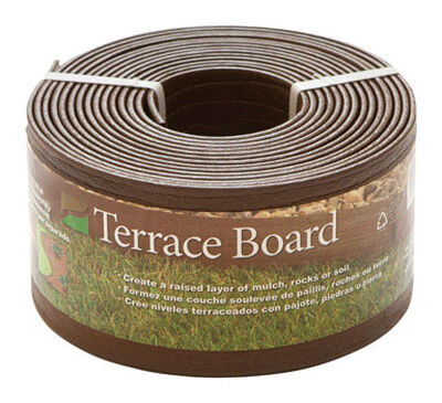 Master Mark Terrace Board 4 in. H x 20 ft. L Brown Plastic Lawn Edging