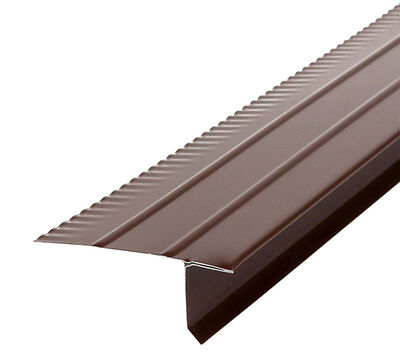 Amerimax Galvanized Steel Drip Edges Brown 1 in. H x 10 ft. L x 2-7/16 in. W Roof Flashing