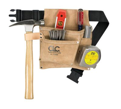CLC Heavy Duty Suede Leather 29 in. Tool and Nail Belt 3 pocket 2 in. W