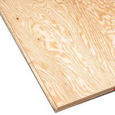 """Plywood 4' x 8' x 1-1/8"""" Tongue and groove Pine"""