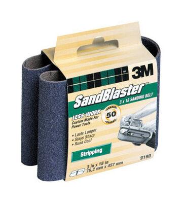 3M SandBlaster Sanding Belt 3 in. W x 18 in. L 50 Grit Coarse 1 pk