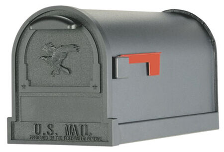 Solar Group Gibraltar Arlington Steel Post Mounted Mailbox Black 11 in. H x 21-1/2 in. L