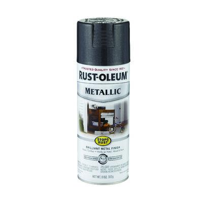 Rust-Oleum Stops Rust Black Night Gloss Metallic Spray 11 oz.