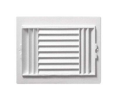 Deflect-O Jordan 10 in. H x 8 in. W Plastic White 3-Way Supply Wall/Ceiling Register