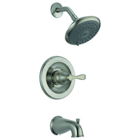 Chrome Delta Porter 1 Handle Brushed Nickel Tub and Shower Faucet