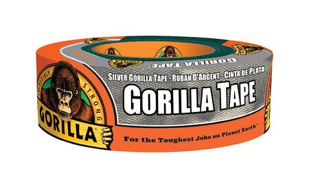 Gorilla 1.88 in. W x 35 yd. L Gorilla Tape Silver