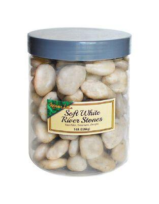 Mosser Lee Mosser Lee Soft White Decorative Stone River Rock 5 lb. 5