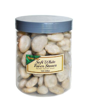 Mosser Lee Mosser Lee Soft White Decorative Stone River Rock 5 lb. 5