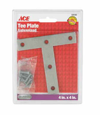 Ace Tee Plate 4 in. x 4 in. Galvanized Steel