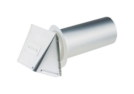 Ace Dryer Vent Hood 4 in. W Silver
