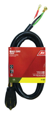 Ace 6/2 8/1 SRDT 250 volts Range Cord 4 Wire 6 ft. L Black