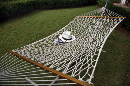 Castaway Cotton Rope Hammock 52 in. W x 76 in. L Cotton White