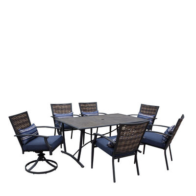 Living Accents 7 pc. Dining Set Navy Blue