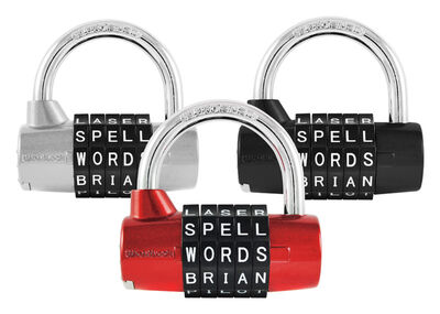 Wordlock 2-1/2 in. 5-Dial Combination Steel Padlock