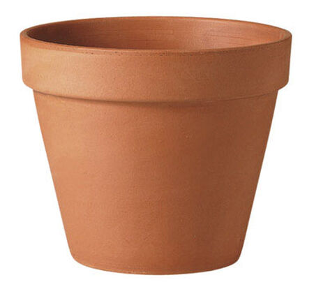 Deroma Terracotta Clay Traditional Planter 9.7 in. H x 10 in. W