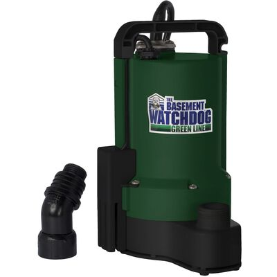 Basement Watchdog Green Line 1/3 hp 3700 gph Plastic Submersible Sump Pump