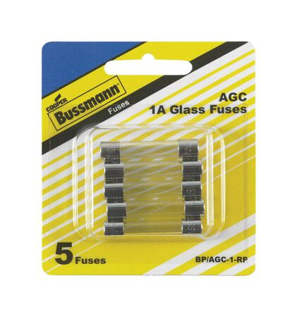 Bussmann 1 amps AGC Automotive Fuse 5 pk