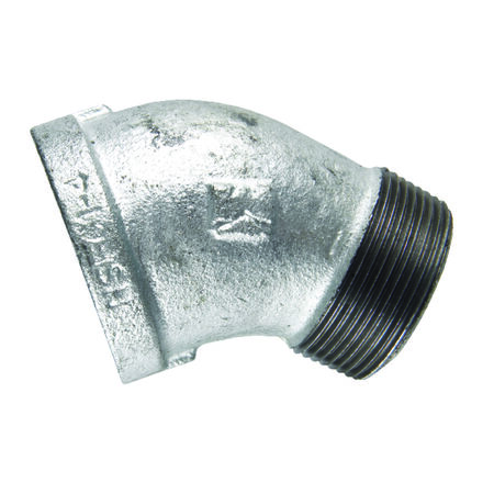B & K 1/2 in. Dia. x 1/2 in. Dia. FPT To MPT 45 deg. Galvanized Malleable Iron Street Elbow