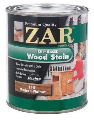 ZAR Semi-Transparent Oil-Based Wood Stain Modern Walnut Tintable 1 qt.