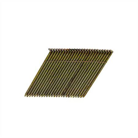 "2,000-Qty 3-1/4"" x .120 Smooth Shank 28 degree Wire Collated Full Round Head Stick Framing Nails"
