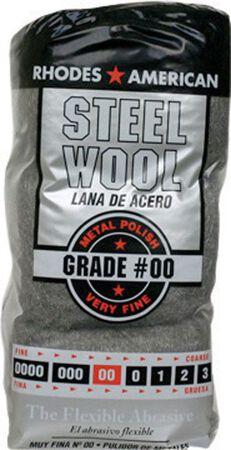 Rhodes American 4 in. W x 8-3/4 in. L Very Fine 00 Grade Steel Wool