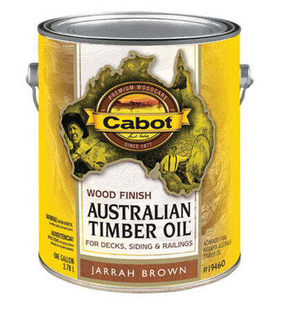 Cabot Wood Finish Transparent Oil-Modified Australian Timber Oil Jarrah Brown 1 gal.