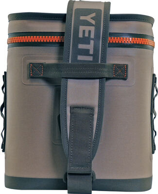 YETI Hopper Flip 12 Soft Sided Cooler 12 can Field Tan/Blaze Orange