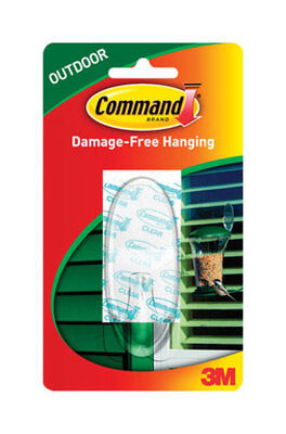 3M Command Large Outdoor Window Hook 3-3/8 in. L Plastic 4 lb. 1 pk