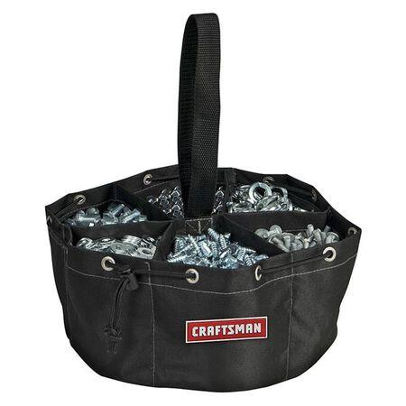 Craftsman Tote Bag 5 in. H x 11 in. W x 2-11/16 in. L 6 inside pockets