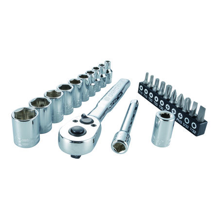 Craftsman 1/4 in. drive Metric 6 Point Nano Mechanic's Tool Set 24 pc.
