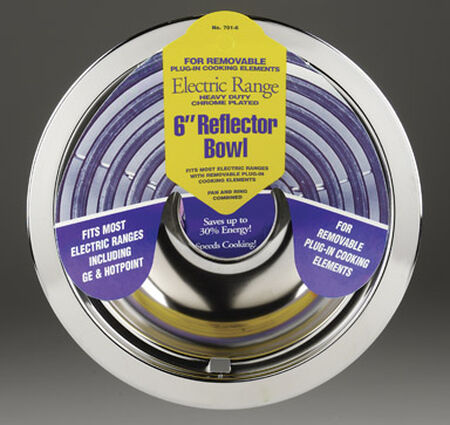 Stanco Chrome-Plated Steel Range Reflector Bowl 6 in.