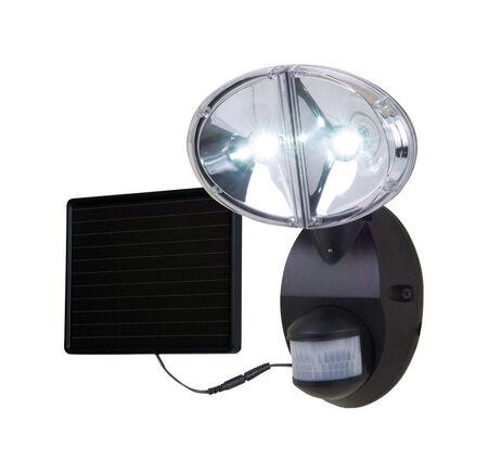 All-Pro 100 deg. Motion-Sensing LED Black Solar Flood Light 1 pk