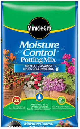Miracle-Gro Moisture Control Potting Mix Fertilizer Enriched