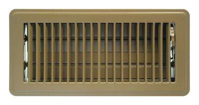 Tru Aire 4 in. H x 10 in. W Steel Floor Register Brown