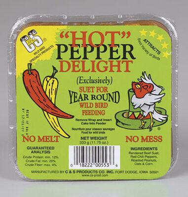 C&S Products Hot Pepper Delight Assorted Species Suet Beef Suet 11.75 oz.