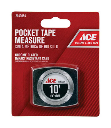 Ace Tape Measure 1/4 in. W x 10 ft. L